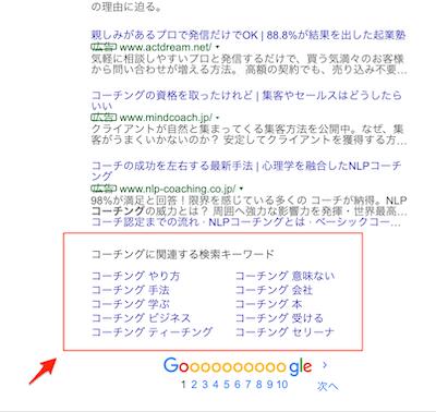 検索結果の関連キーワード